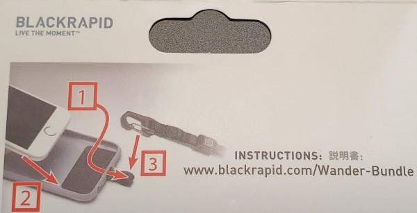 BLACKRAPID Tether Tab Universal Smartphone Sicherungseinlage Handyhülle