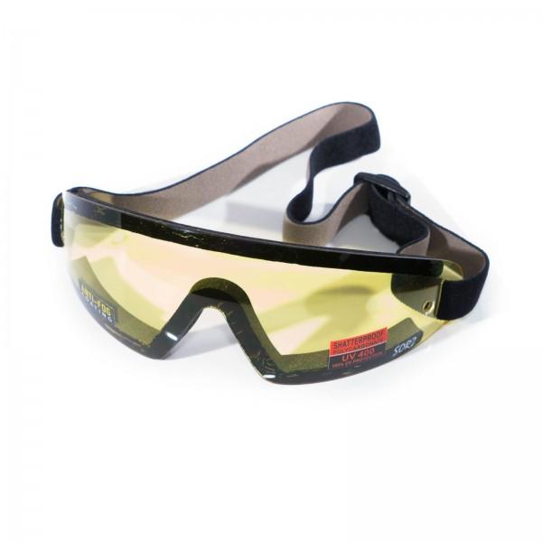 Gelbe Brille für Motorschirm Gleitschirm Fallschirm