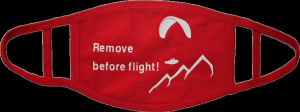 Maske Mund Nasen Bedeckung Remove before Flight! Paragliding Gleitschirm Paraglider