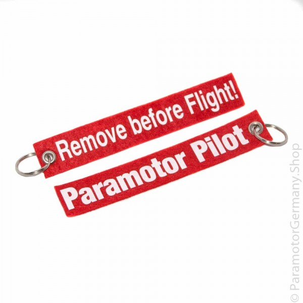 Remove before Flight / Paramotor Pilot lang - Schlüsselanhänger