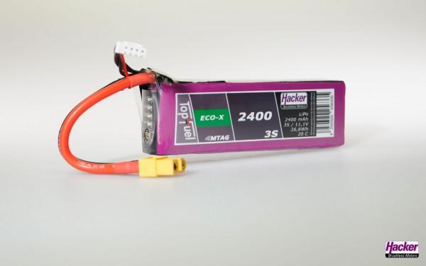TopFuel LiPo 20C ECO-X 2400mAh 3S MTAG Akku für Cloud 0.5