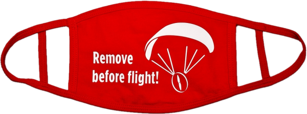 Maske Mund Nasen Bedeckung Remove before Flight! Paramotor Motorschirm